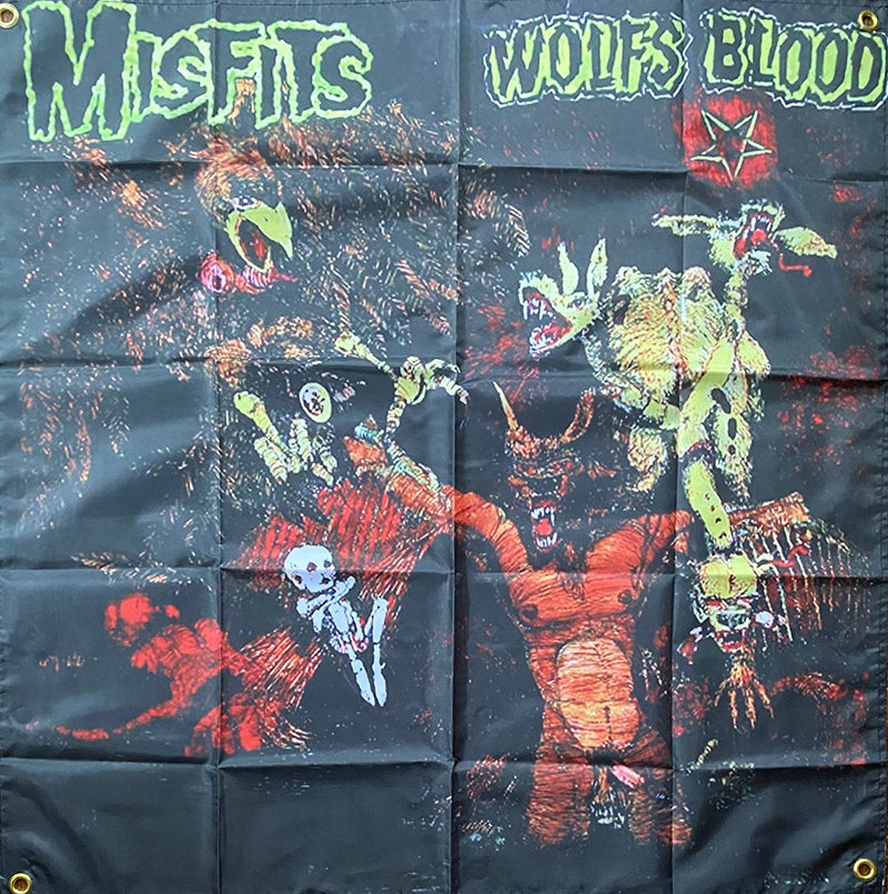 """Image of Misfits """" Wolf's Blood """" Flag / Tapestry / Banner"""