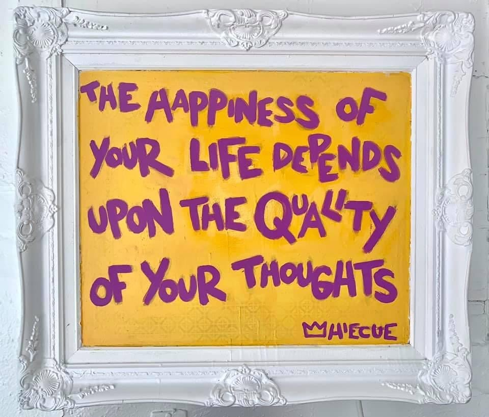"""""""Quality of your thoughts"""" original painting"""