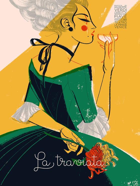 Image of 'La traviata' by Anne Benjamin