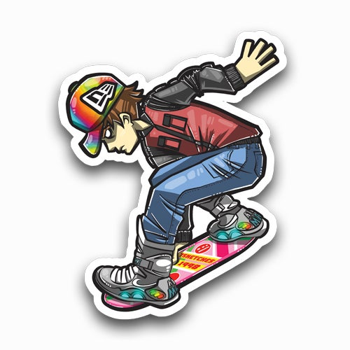 Image of Marty McFly Sticker