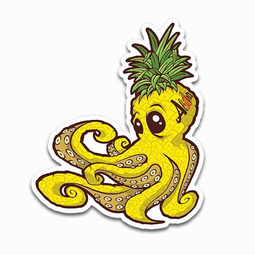 Image of Pineapple Octopus Sticker