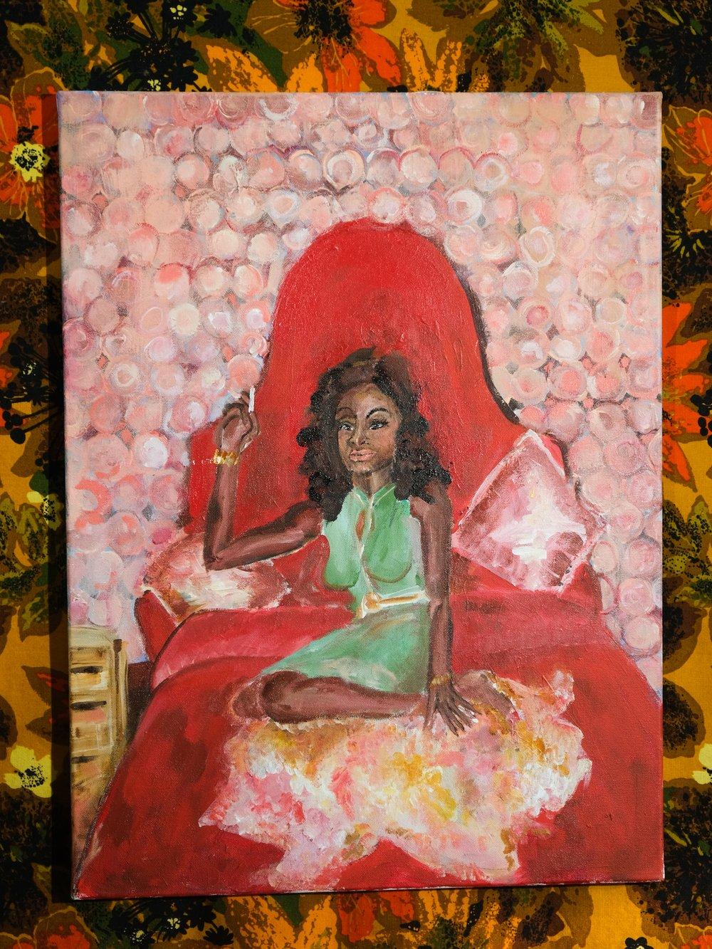 Image of JACKIE SHANE // original acrylic painting on canvas
