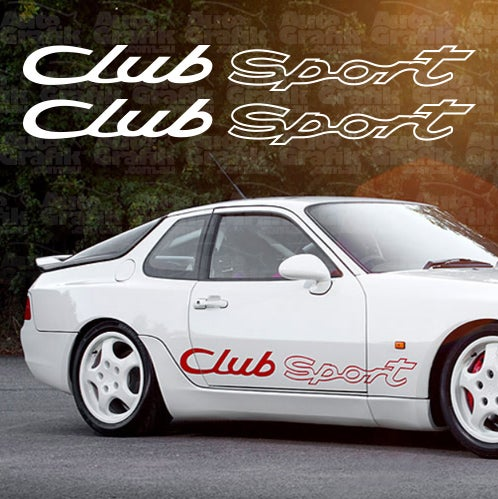 Image of CLUB SPORT SIDE SCRIPT DECAL SET