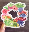 Plant Pokemon Clear Vinyl Sticker
