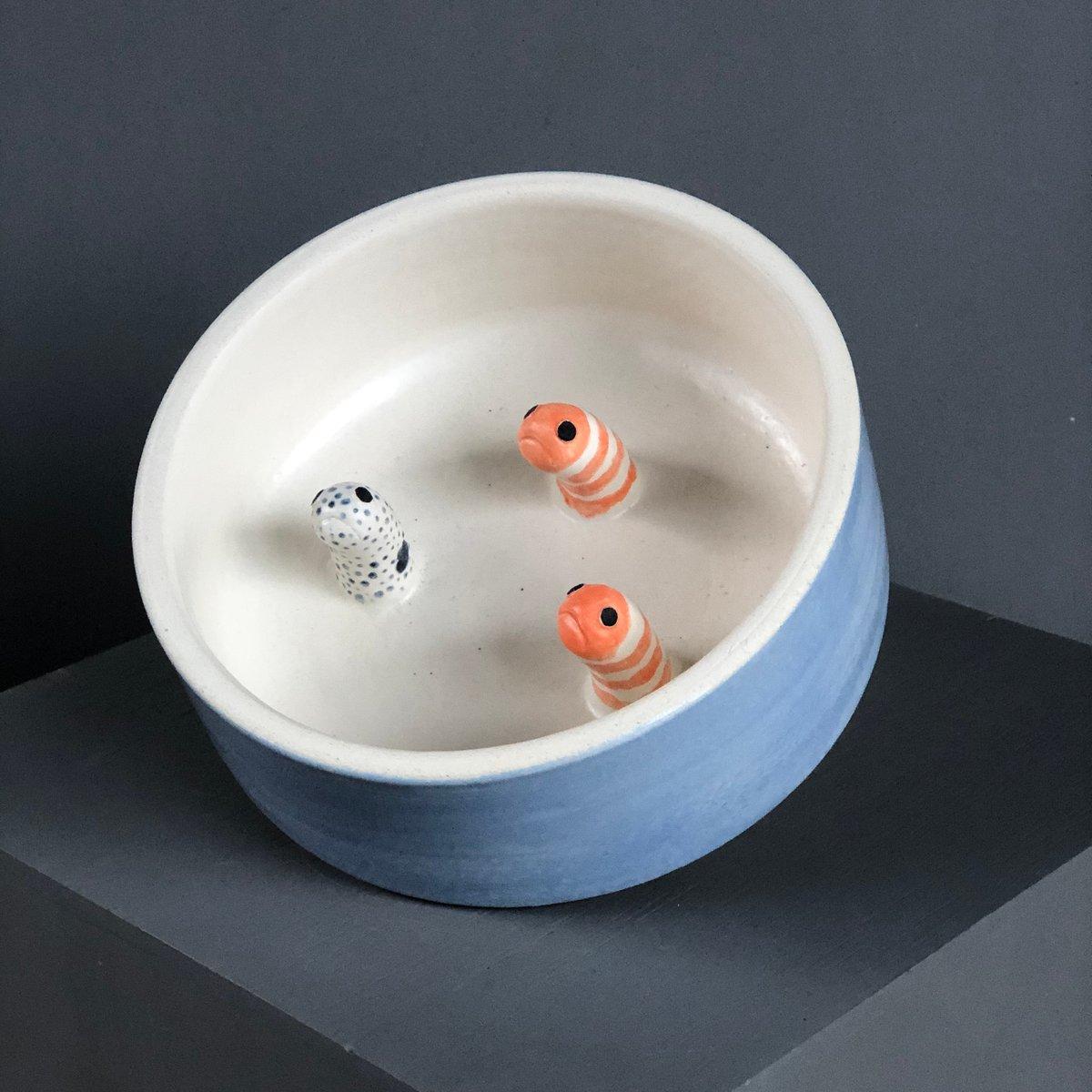 Image of Garden eels dog bowl (slow feeder)