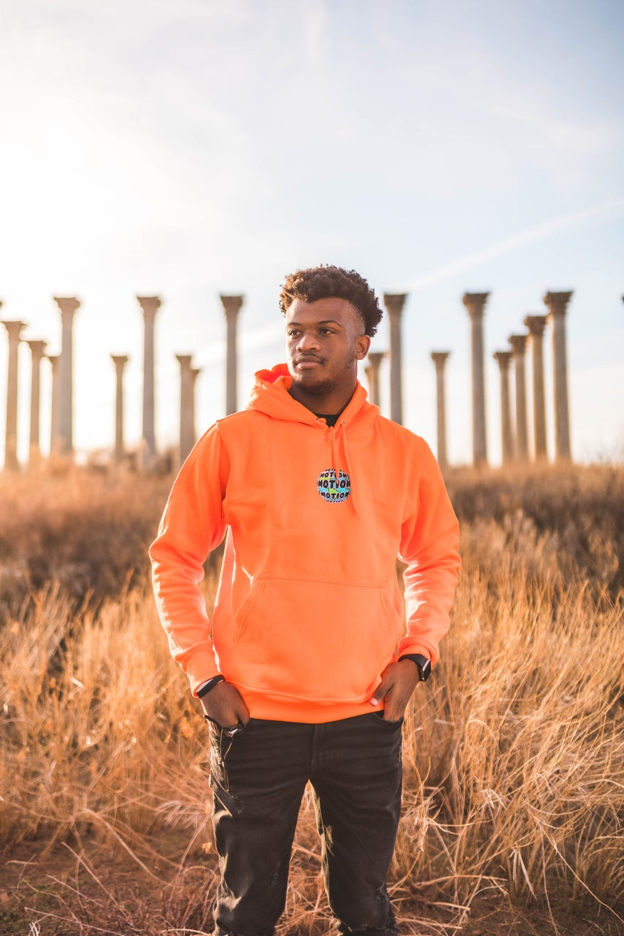 Image of NEW Orange World of Emotions Hoodie