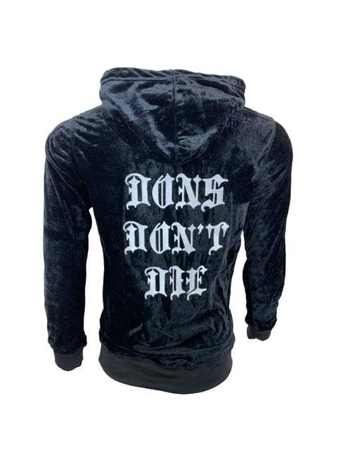 Image of Big Don Velour Sweatsuit Black