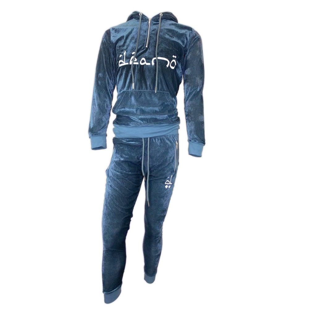Image of Big Don Velour Sweatsuit Grey