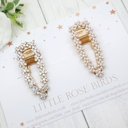 Image of Pearl and Sparkly Clip Set