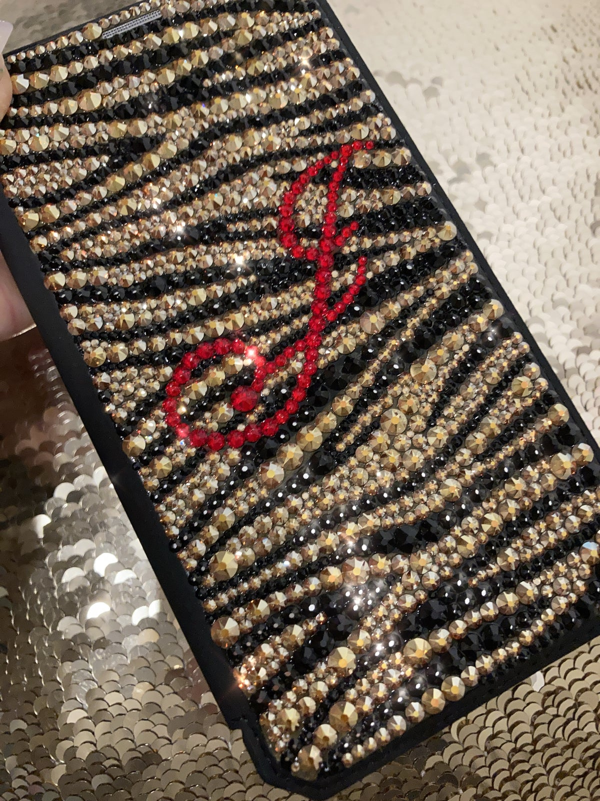 Image of SAMPLE Personalised Animal Print Wallet case for iPhone 11 Reduced from £265 to £70