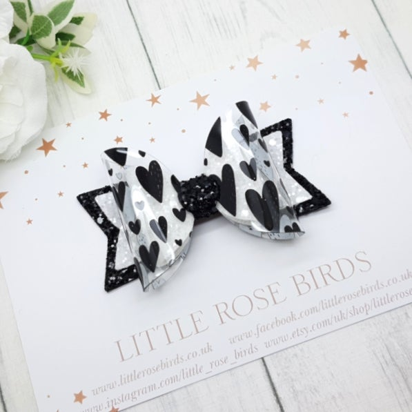 Image of Oh Black Hearts Bow