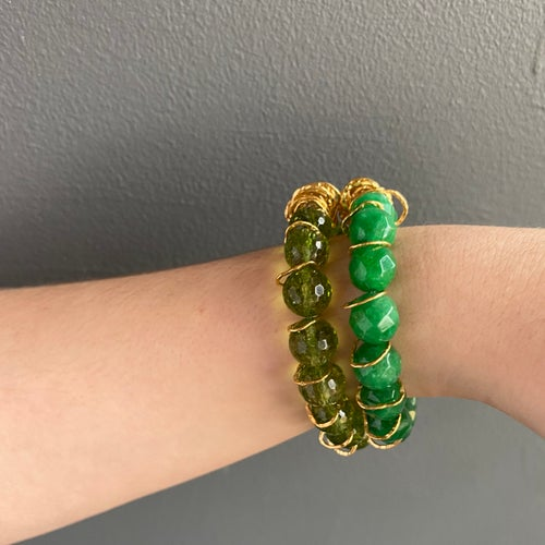 Image of Afiok beaded bracelet- Jade