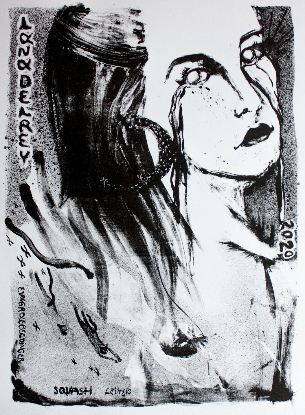 "Image of Lithography ""Lana del Rey"""