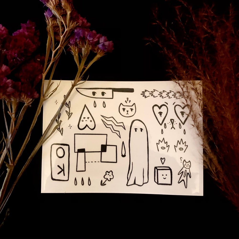 Image of A6 Temporary Tattoo Sheet, W2020