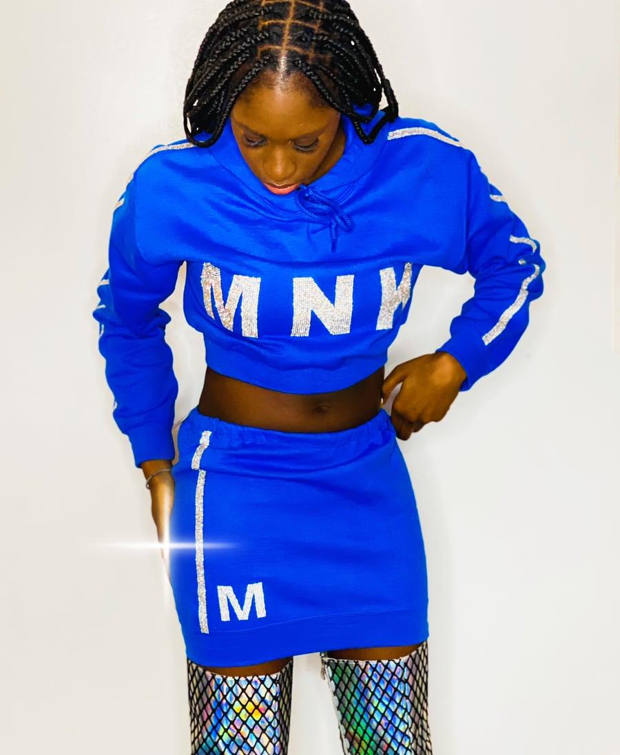Image of MNK Platinum Sweat Skirt 'Royal Blue'