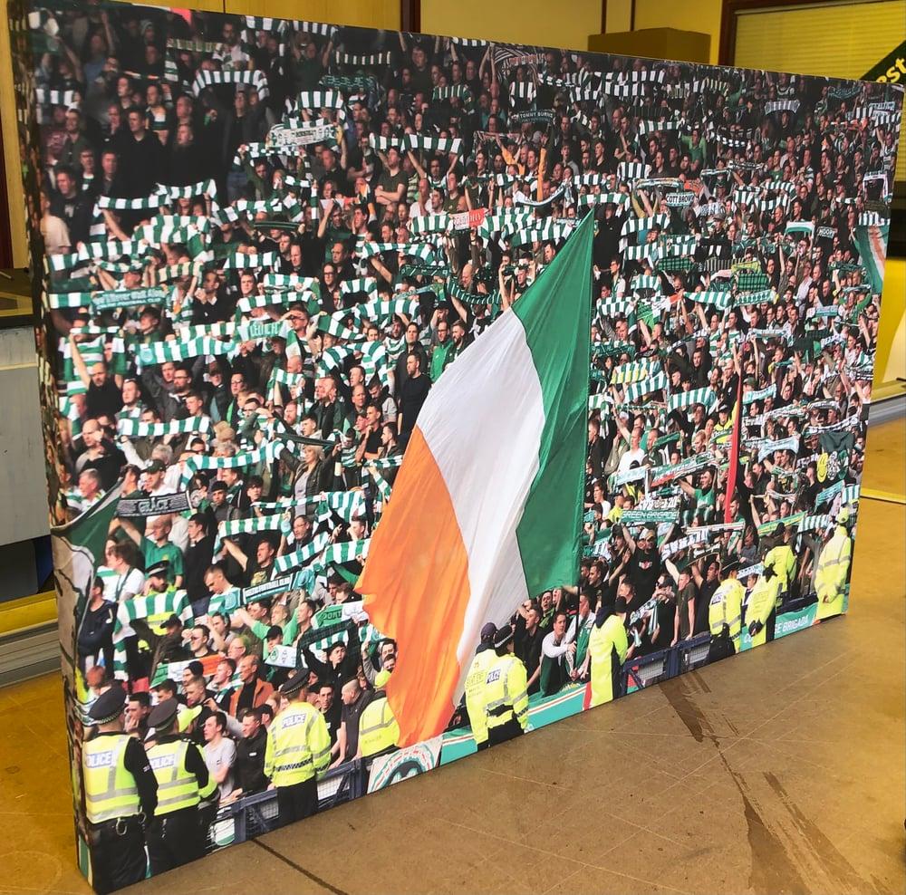 Celtic Fans Tri-Colour Canvas