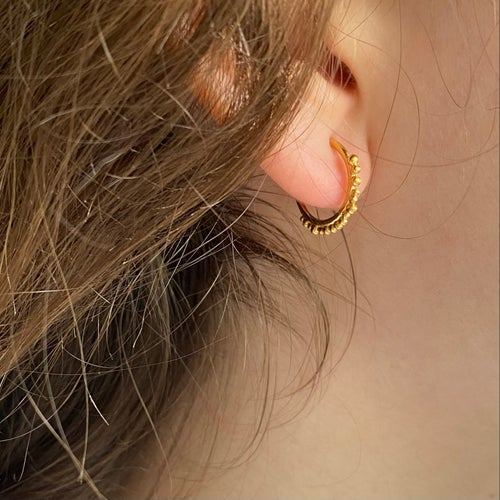 Image of Plethora hoops #4 - Yellow gold vermeil