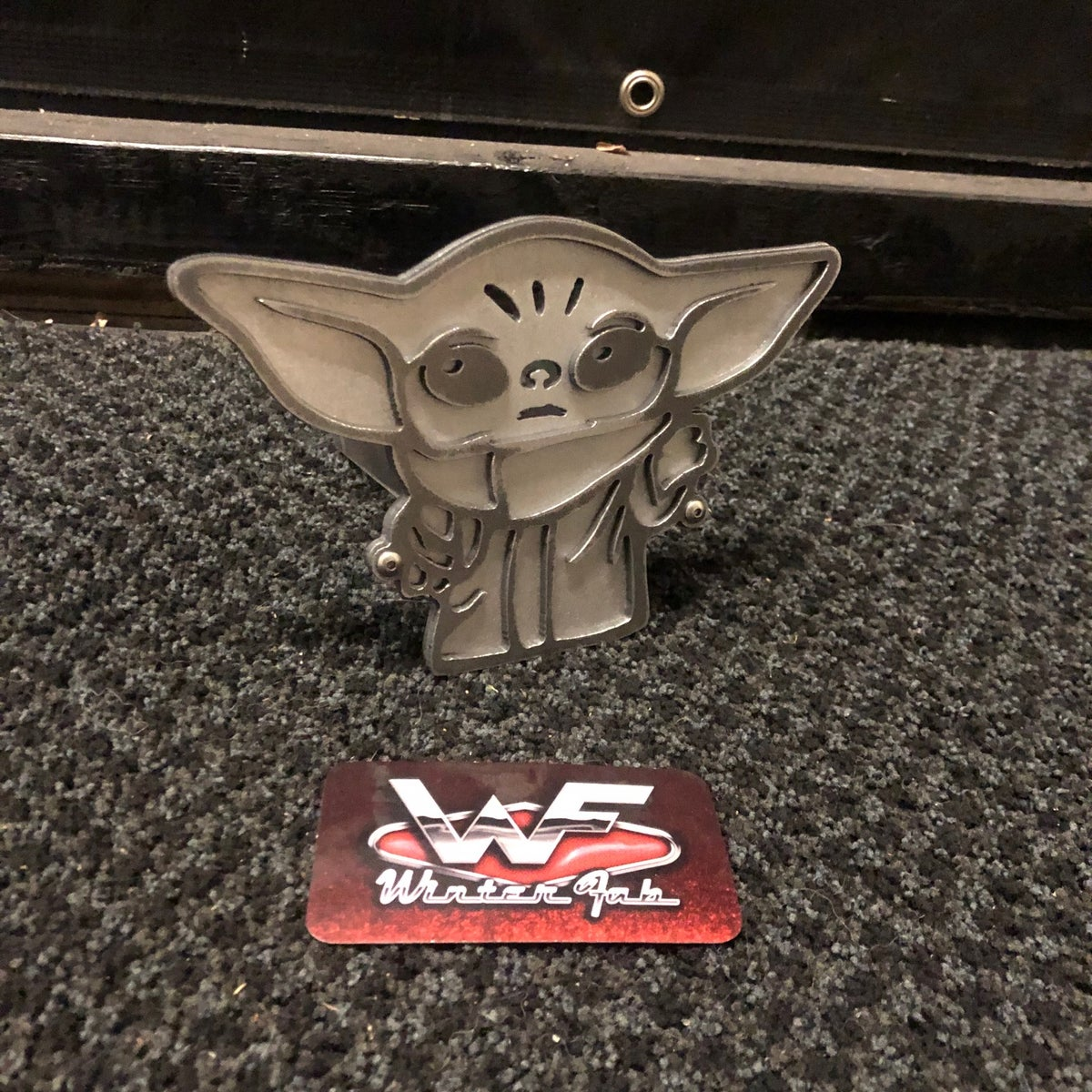 Image of Baby Yoda - Grogu - Two Layer Hitch Cover
