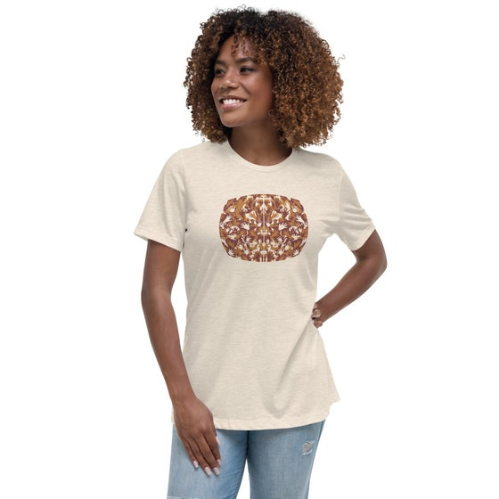 "Image of ""The Space Between"" Bella + Canvas Women's Relaxed T-Shirt - Heather Prism Natural"