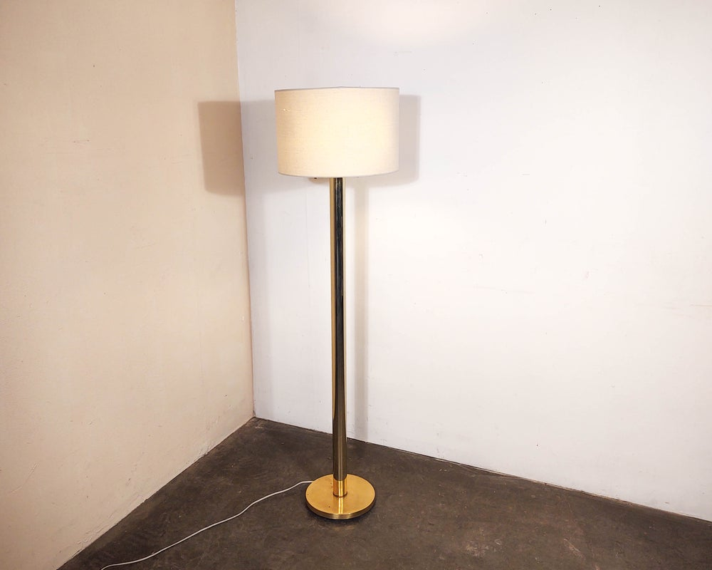 Image of Koch + Lowy Brass Column Floor Lamp