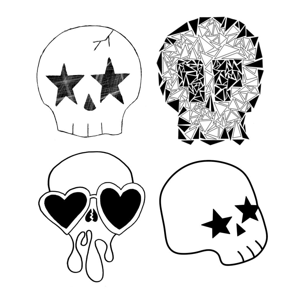 Image of Skulls Sticker Pack