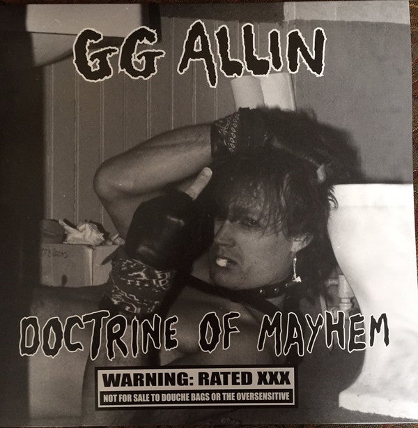 "GG ALLIN - ""Doctrine Of Mayhem"" LP (LIMITED)"