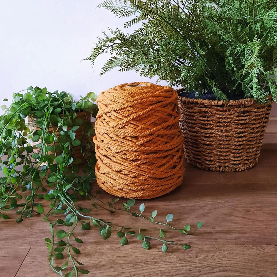 Image of 1kg Spiced Pumpkin 3ply Rope