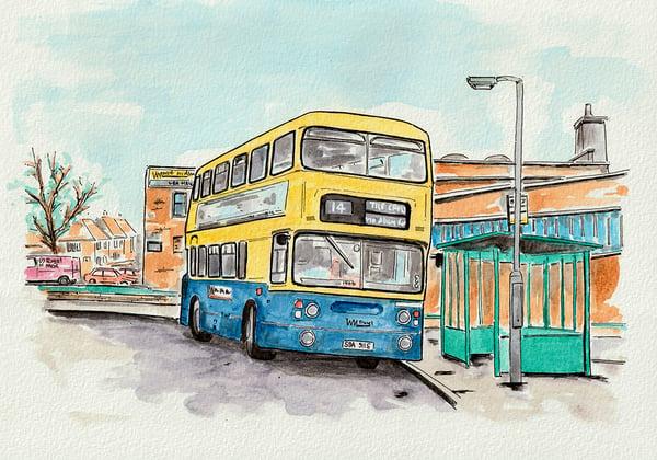 Image of The No.14 bus, Birmingham