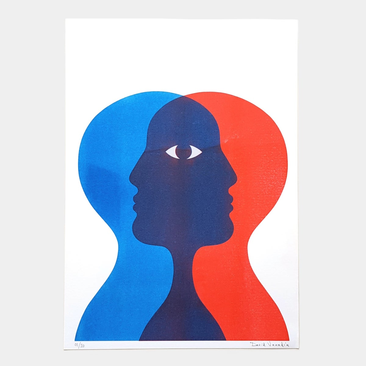 Image of Limited edition riso print 30 x 42 cm 'Double Je'