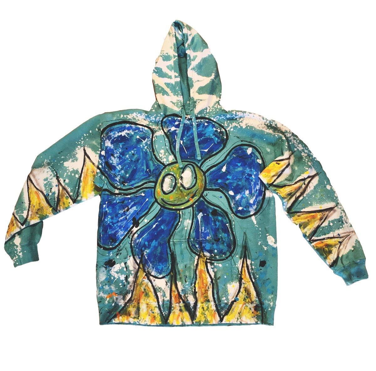 smiley flower (vintage hoodie)