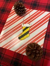 Yellow  House Stocking-Hand Painted Ornament