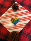Love For All Heart Ornament - Hand Painted