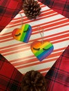 Share the Love Femme Pride Heart Ornaments - Hand Painted