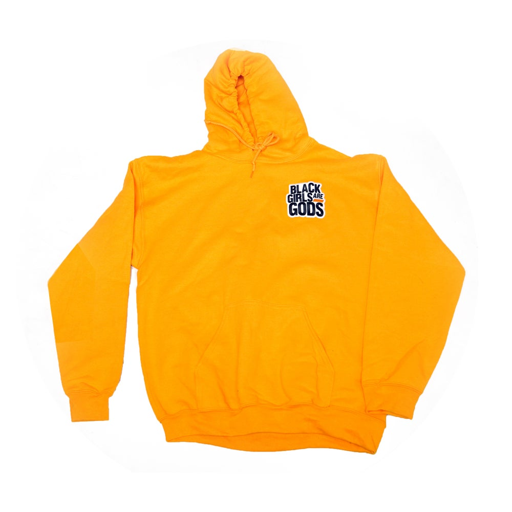 Gold Hoodie w/ Woven Patch