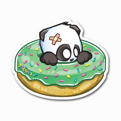 Image of Donut Panda Sticker