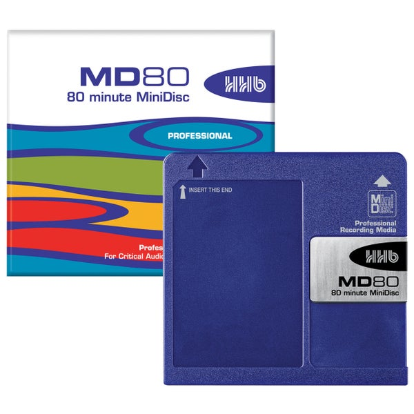 Image of HHB MD80 Professional Grade 80 Minute MINIDISC *5-PACK