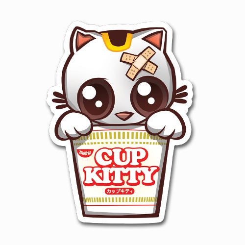 Image of Cup Kitty Sticker