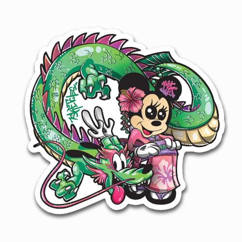 Image of Kimono Minnie + Dragon Pluto Sticker