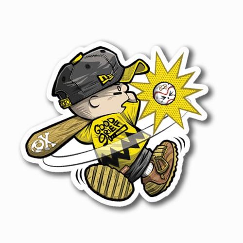 Image of Charlie Swingin' Dat Bat Sticker
