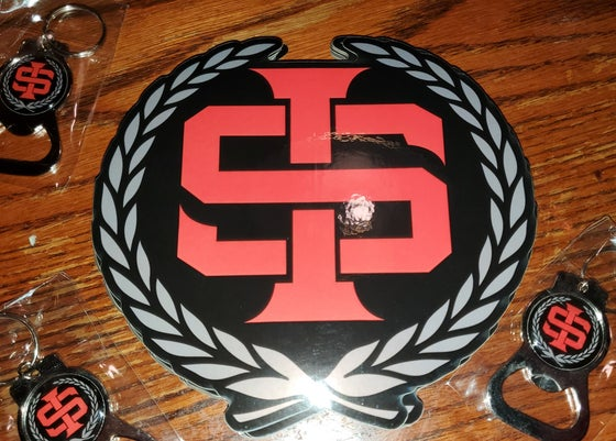 Image of Immortal Soldierz I.S. Keychain & Bumpersticker