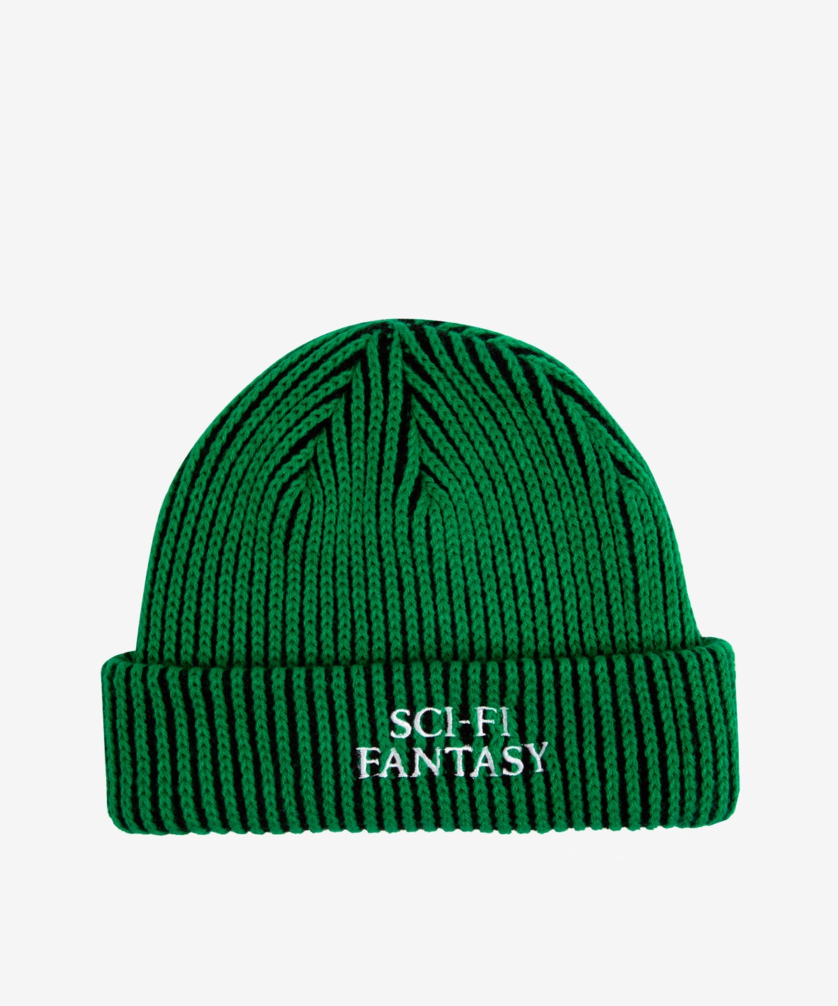 Image of SCI-FI FANTASY_LOGO BEANIE :::BLACK/GREEN:::