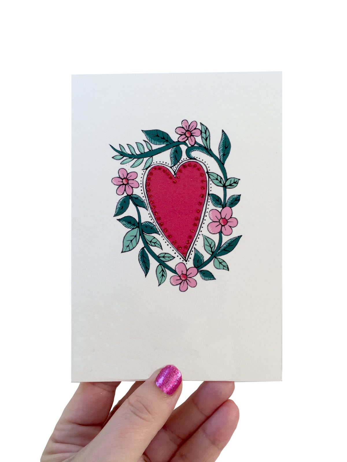 **NEW** Heart with Vines Card