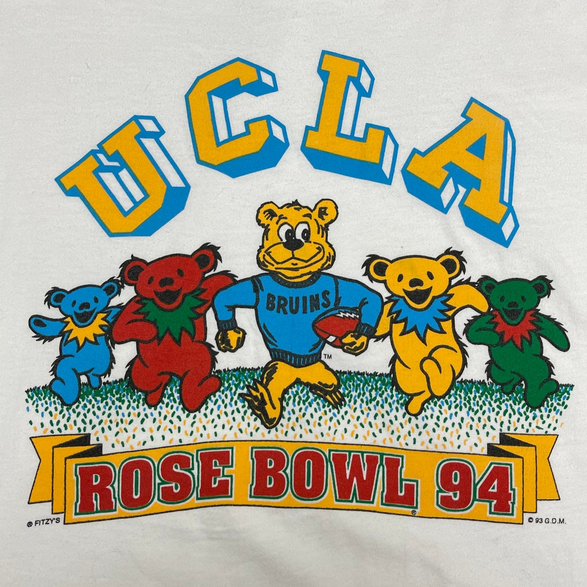 Original Vintage Grateful Dead 1990's UCLA Rose Bowl Tee!!! X-Large!