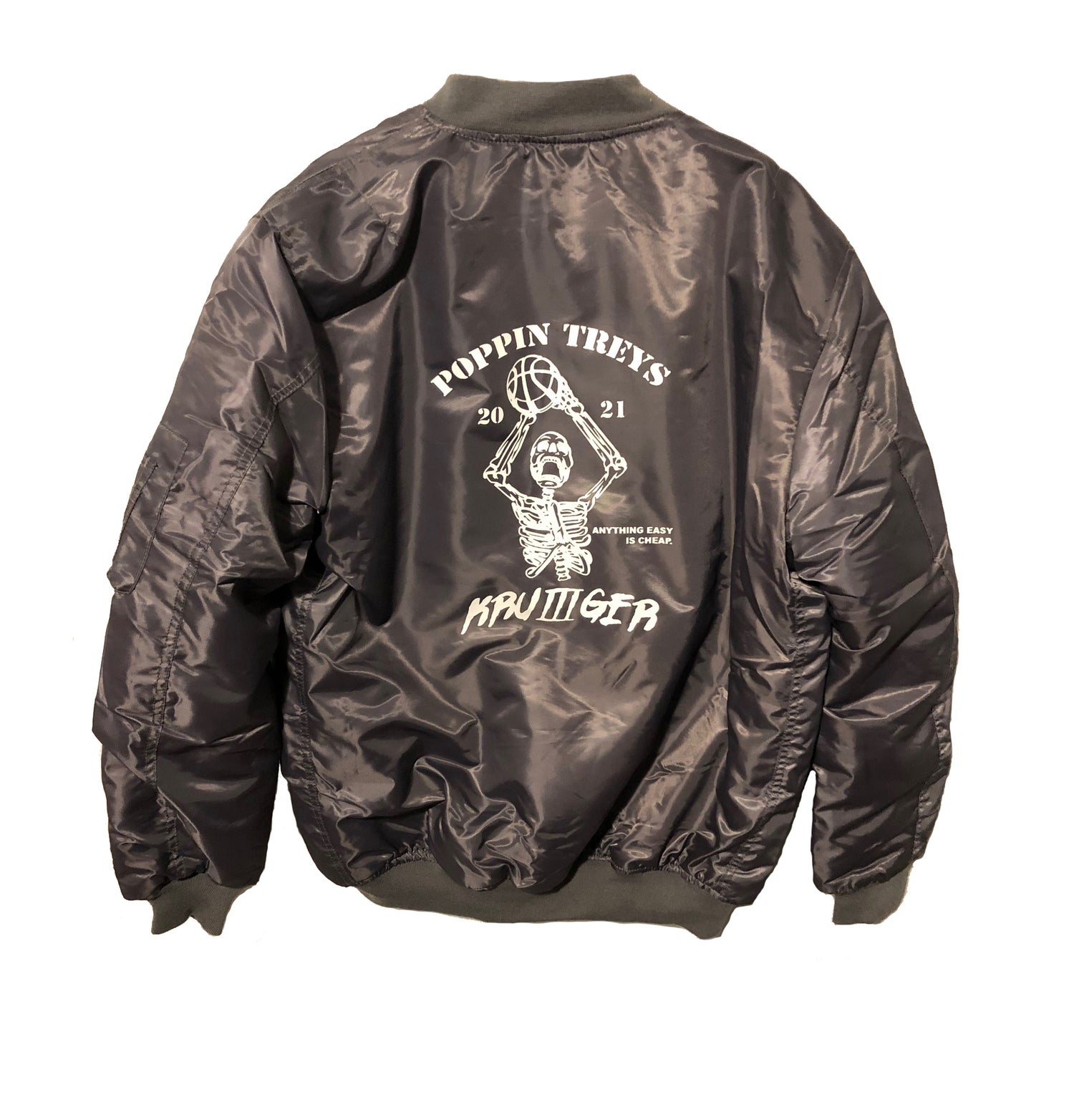 "Image of Zoo Krueger ""Poppin treys"" bomber jacket"