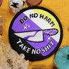 "DO NO HARM TAKE NO SHIT / 3"" iron on NONBINARY pride flag"