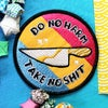 "DO NO HARM / TAKE NO SHIT / 3"" PAN flag iron on patch"