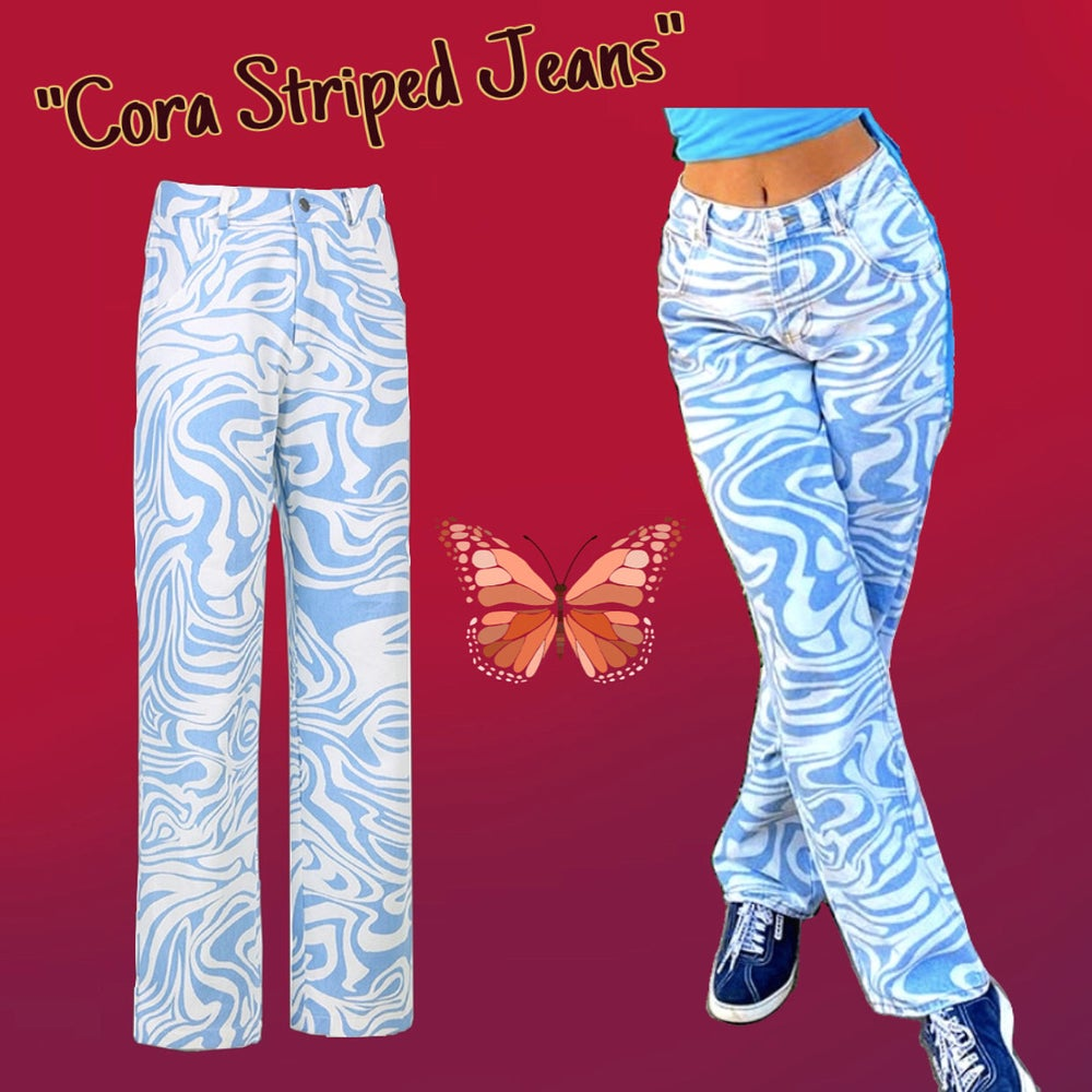 Image of Cora Striped Jeans