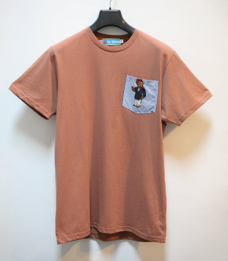 Image of Cinnamon Teddy Bear Pocket Tee Shirt