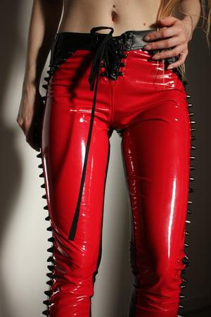 Image of CALIGULA SHINY PVC STUDDED PANTS