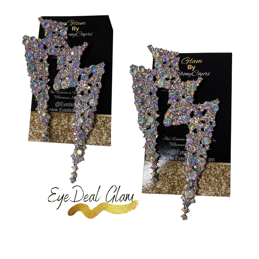 Galaxy Glam Earring *Holographic Silver